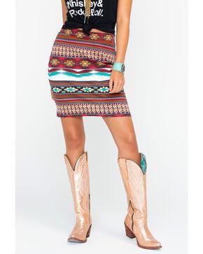 Wrangler Women's Aztec Print Skirt , Multi, hi-res