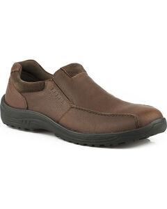 Roper Men's Brown Burly Casual Slip-On Shoes , Brown, hi-res