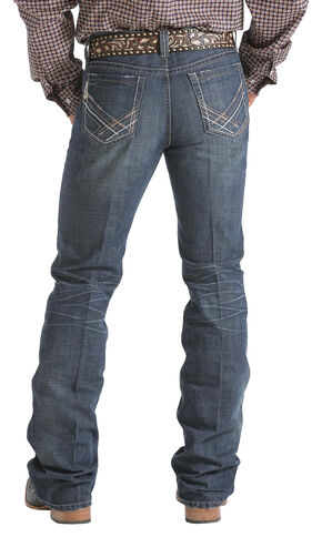Cinch Ian Stonewash Slim Fit Jeans - Boot Cut   , Dark Stone, hi-res