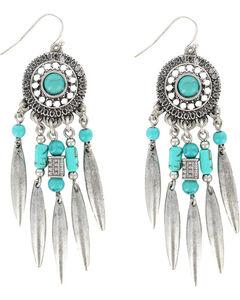 Shyanne Women's Dreamcatcher Earrings, Silver, hi-res
