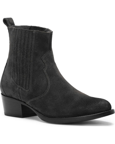 Frye Women's Black Diana Chelsea Booties - Medium Toe , Black, hi-res