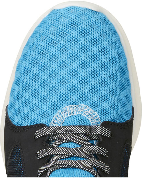 Ariat Boys' Fuse Highlighter Blue Mesh Shoes, Blue, hi-res