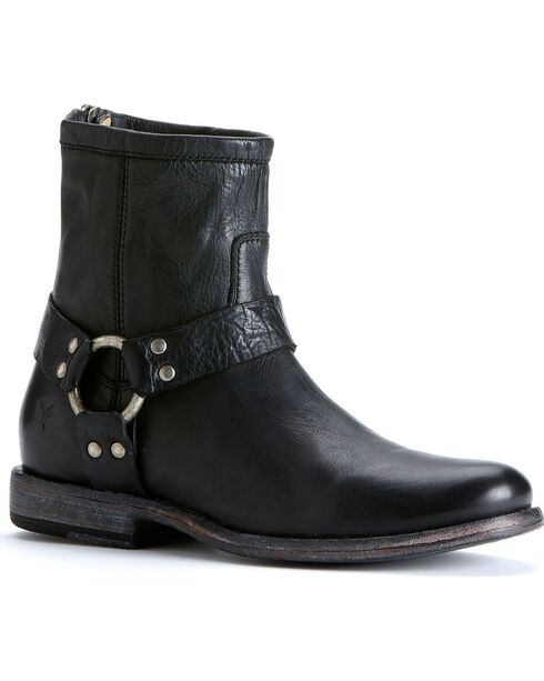 Frye Women's Phillip Harness Boots - Round Toe, Black, hi-res