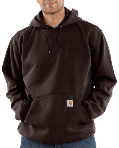 Carhartt Hooded Sweatshirt - Big & Tall, Dark Brown, hi-res