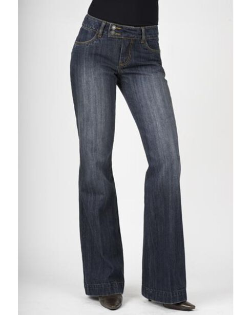 Stetson Women's 214 Fit City Dark Indigo Trouser Jeans, Med Wash, hi-res