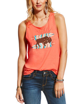 Ariat Women's Medium Pink Free Spirit Tank , Medium Pink, hi-res
