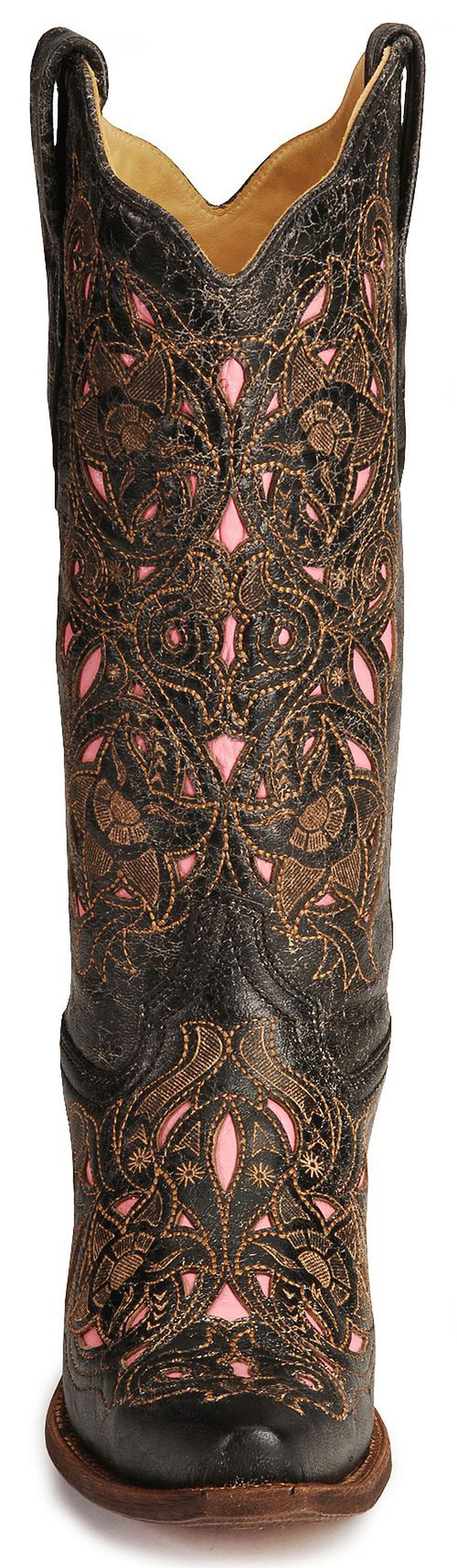 Corral Women's Laser Pink Inlay Cowboy Boots - Snip Toe, , hi-res