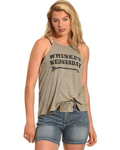 Cowgirl Justice Women's Whiskey Wednesday Tank, Natural, hi-res