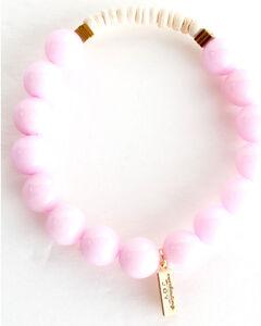 Everlasting Joy Jewelry Women's Bubblegum Pink Coconut Bracelet , Light Pink, hi-res