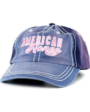Shyanne Women's American Honey Baseball Cap, Blue, hi-res