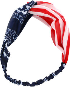 Shyanne Women's Americana Mix Pattern Headband , Red/white/blue, hi-res