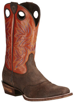 Ariat Men's Circuit Striker Boots - Square Toe, Chocolate, hi-res