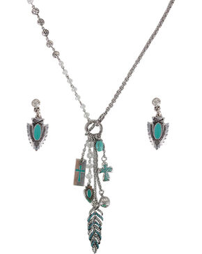 Shyanne Women's Turquoise Arrowhead Jewelry Set, Turquoise, hi-res