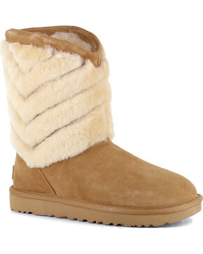 UGG Women's Chestnut Tania Boots - Round Toe , Chestnut, hi-res