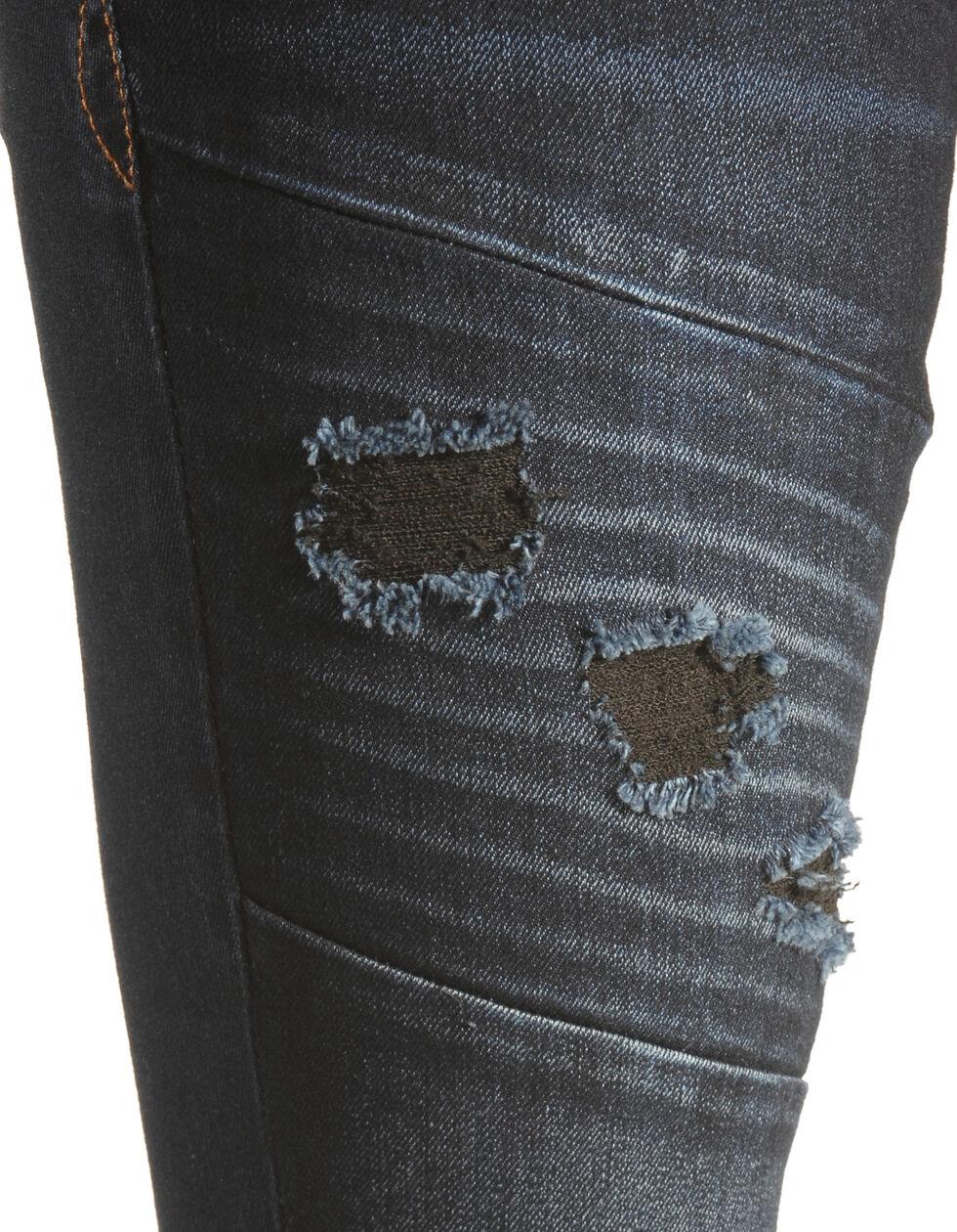 Grace in LA Women's Dark Moto Skinny Jeans , Indigo, hi-res