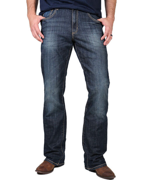 Wrangler Men's Retro Relaxed Fit Boot Cut Jeans - Long, Indigo, hi-res