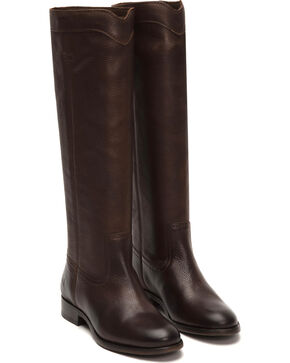 Frye Women's Cara Roper Tall Boots - Round Toe , Chocolate, hi-res