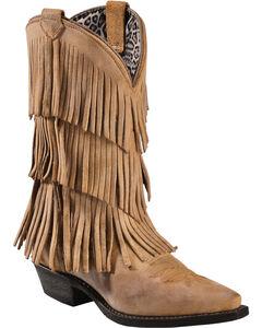 Dingo Tres Fringe Cowgirl Boots - Snip Toe, , hi-res