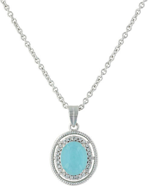 Montana Silversmiths Women's Haloed Summer Skies Necklace , Silver, hi-res