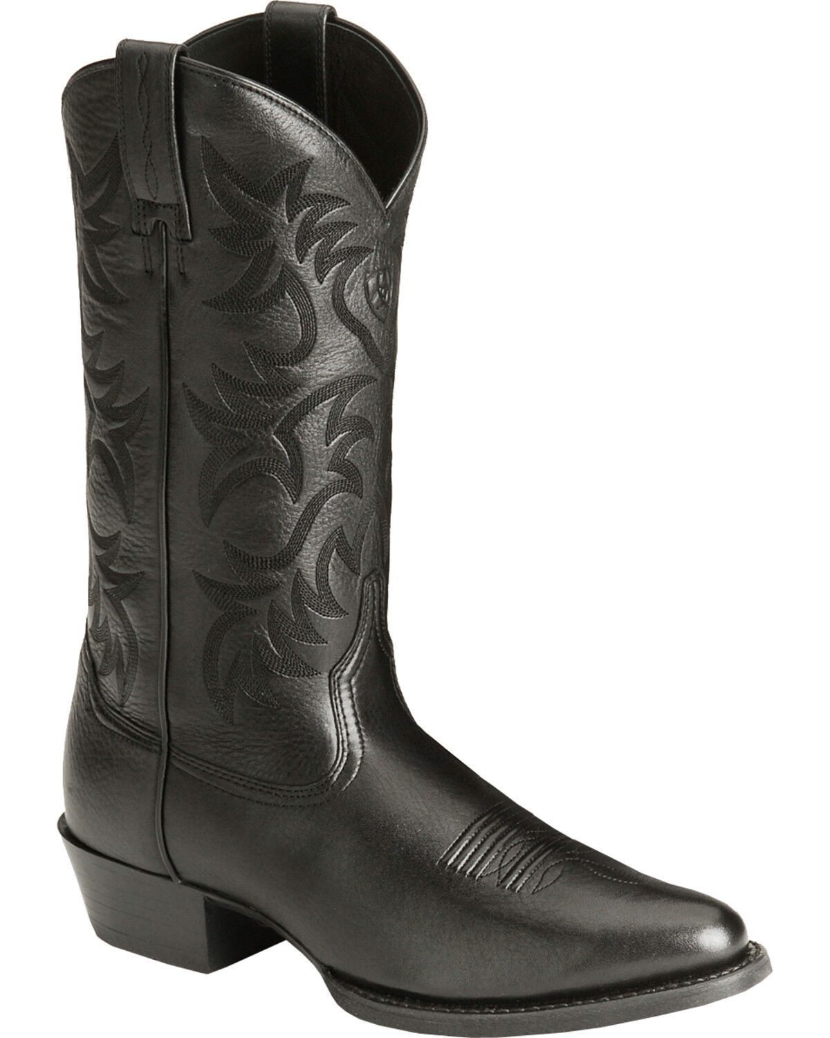 ariat heritage deertan cowboy boots medium toe black hires