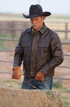 STS Ranchwear Men's Maverick Brown Leather Jacket - Big & Tall - 2XL & 3XL, , hi-res
