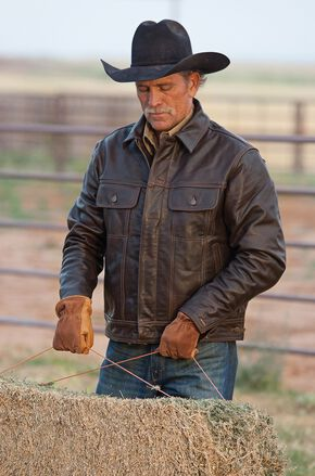 STS Ranchwear Men's Maverick Brown Leather Jacket - Big & Tall - 4XL, Brown, hi-res