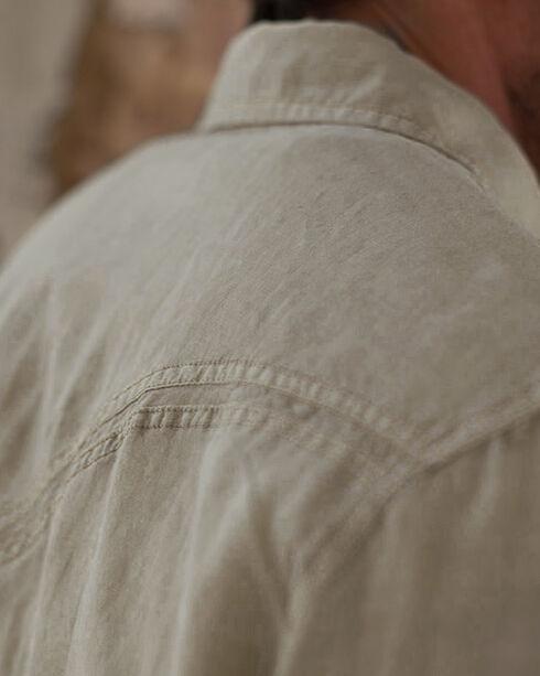 Ryan Michael Men's Tumbleweed Split Rail Seam Shirt - Big and Tall , Tan, hi-res