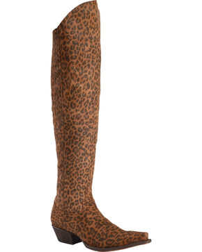 Liberty Black Women's Cheetah Over The Knee Boots - Snip Toe, Cheetah, hi-res