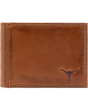 Jack Mason Men's University of Texas Campus Flip Bifold Wallet, Tan, hi-res
