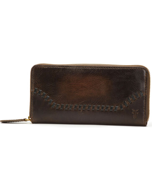 Frye Women's Melissa Whipstitch Zip Wallet , , hi-res