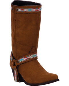 Dingo Women's Rust Martine Cowgirl Boots - Pointed Toe , Rust, hi-res