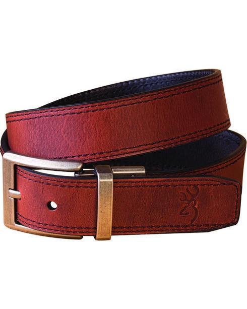 Browning Men's Brown Reversible Belt , Brown, hi-res