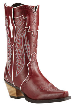 Ariat Lipstick Red Calamity Cowgirl Boots - Snip Toe , , hi-res