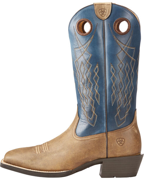 Ariat Men's Tan Heritage Hitchrock Western Boots - Square Toe , Tan, hi-res