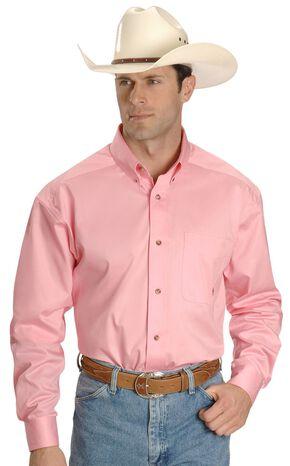 Ariat Pink Twill Cowboy Shirt - Big & Tall, Pink, hi-res