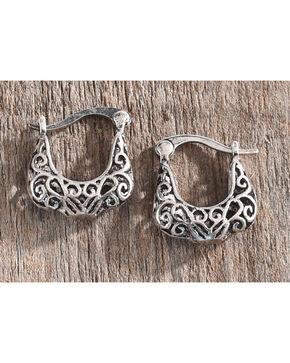 Shyanne Women's Filigree Hinge Earrings, Silver, hi-res