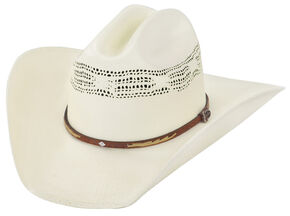 Justin 20X Flagstaff Straw Cowboy Hat, Natural, hi-res