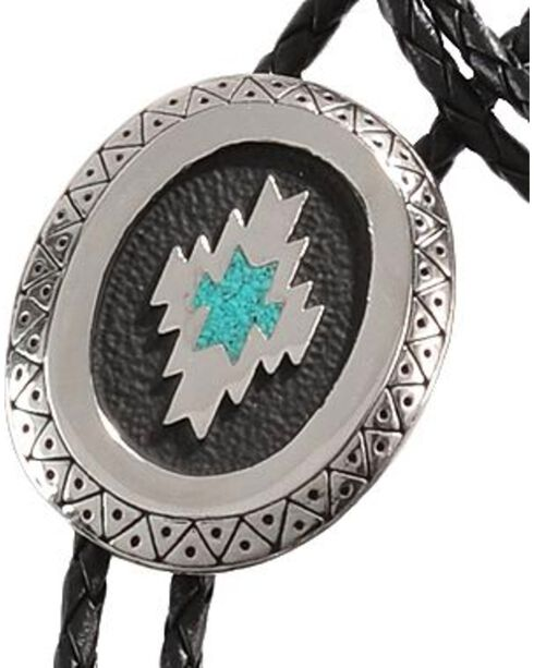 Western Express Aztec Inspired Turquoise Inlay Bolo Tie, Multi, hi-res
