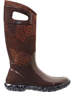 Bogs Women's North Hampton Brown Floral Waterproof Boots, , hi-res