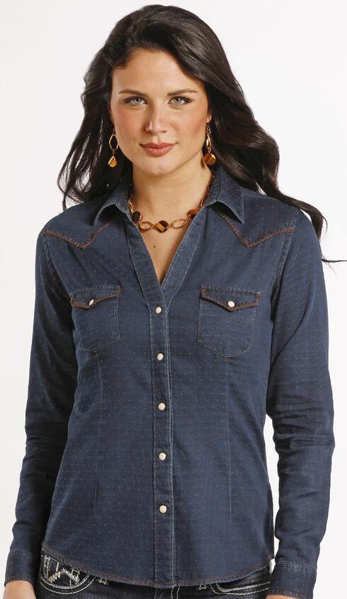 Rough Stock by Panhandle Slim Newbridge Vintage Indigo Western Shirt , Navy, hi-res
