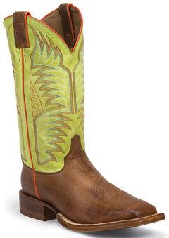 Justin Cognac Delta Stampede CPX Cowboy Boots - Square Toe , , hi-res