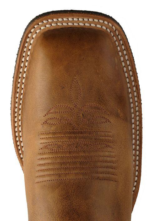 Justin Bent Rail Arizona Cowboy Boots - Square Toe, Tan, hi-res