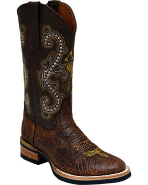 Ferrini Men's Acero Western Boots - Round Toe , Brown, hi-res