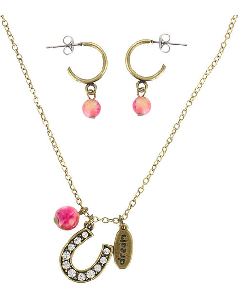 Shyanne® Women's Eat Sleep Ride Repeat Jewelry , Gold, hi-res