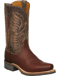 Lucchese Men's Cooper Cognac Bull Shoulder Western Boots - Square Toe, Cognac, hi-res