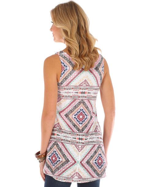 Wrangler Women's Ivory Diamond Print Sleeveless Tunic , Ivory, hi-res