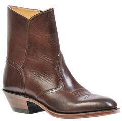 Boulet Western Dress Side Zip Cowboy Boots - Round Toe, , hi-res