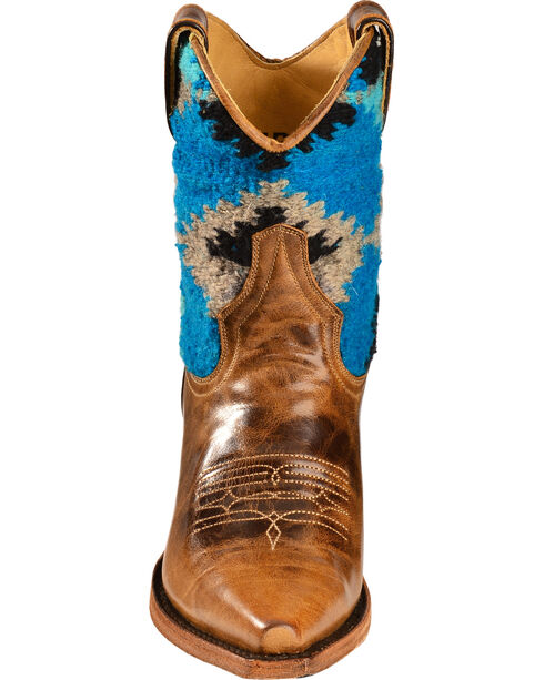 Stetson Morning Star Serape Short Cowgirl Boots - Snip Toe, Brown, hi-res