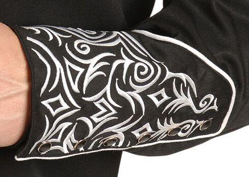 Scully Full Stitched Yoke Retro Western Shirt, Black, hi-res