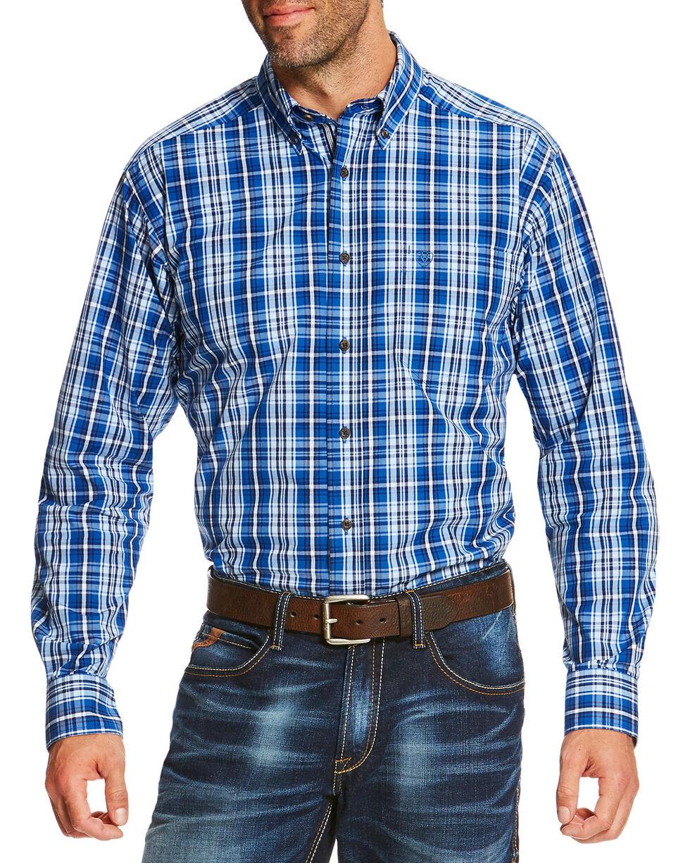 Ariat Men's Blue Reman Long Sleeve Shirt, Blue, hi-res